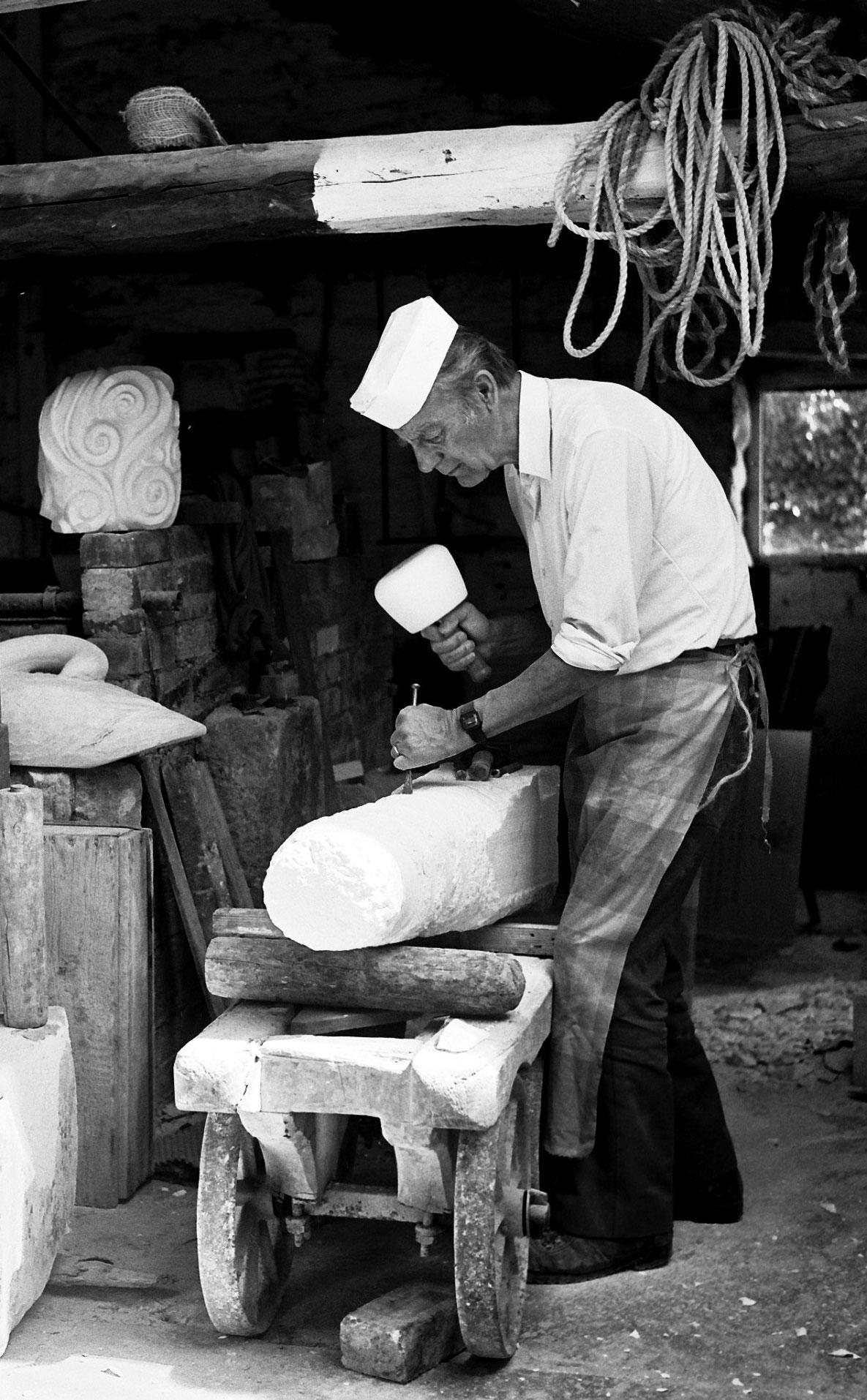 Jonah Jones in his workshop
