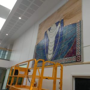 restored mosaic in Rhyl